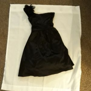 pretty satin look girls formal dress